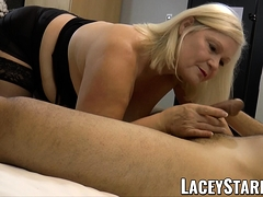 LACEYSTARR - Hooker GILF creampied by a fortunate
