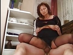 Big saggy Udders Granny Fucked in Kitchen
