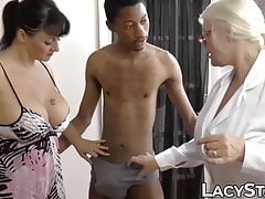 British granny shares big black pipe with
