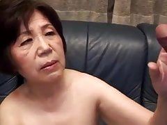 Chinese granny knows her place