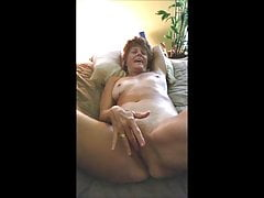 Sexy Redhead Texas GILF Thumbs Her Pussy