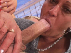Old mature neighbor  his horny big cock