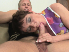 Elderly  loves deep throating and riding his  big pink cigar