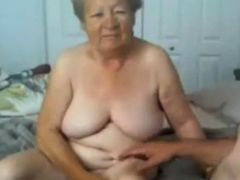 Granny and grandpa naked on web cam