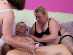 OldNannY Three  Matures Lesbian Party