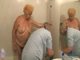 Dirty elderly woman goes crazy getting say no to part1