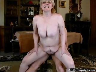 Horny grown up materfamilias fro big tits bonking part6