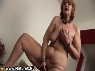 Age-old naked housewife is sucking big part5
