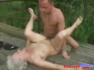 Adult granny acquire fucked by young pauper
