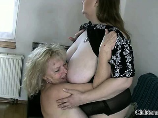 Sex-crazed granny with big tits loves having part5