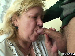 A all right surprise for huge granny