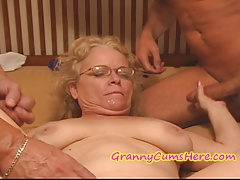 Crazy Granny gets FED her Testicle tonic PIE