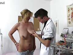Naughty mother porking and blowing young doc