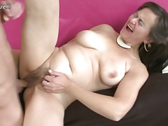 Furry Mature MOM Squirting and fucking her