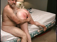 Mature Blonde gets cooch clamped in bedroom by older
