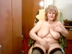 Hacked web cam of my pervert older mum. Watch the mega-bitch