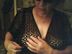 with saggy tits on cam