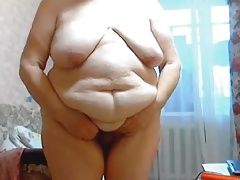 GILF Stefany Standing with ample fat belly