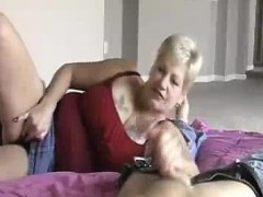 Granny's Hj While Frolicking Wet Dribbling Pussy
