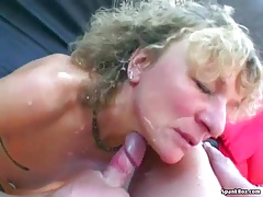 Wild granny shows her sucking
