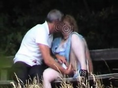 Unexperienced sex on park bench Senaida from 1fuckdatecom