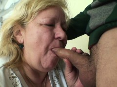 Young dude and huge titted grandma games