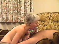 Grandma loves sucking on dick