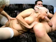 Muddy mature girl gets spit roasted in this naughty threesome