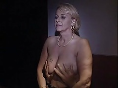 Classy mature gets groped by  fellow