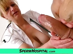 Doctor-patient handjob by uniform  Gabina