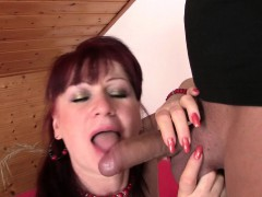 Gfs mommy in stockings rides his kinky wood