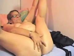 Masturbation grandmother draining solo blonde
