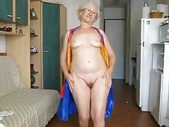 65 Yr. Old Granny Hamming It Up On