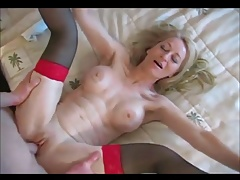Uber-sexy blonde granny having buttfuck sex