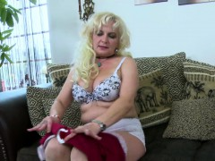 OldNannY Mature Light-haired Seductive Solo Play