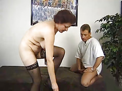 Surprise 3some With A German Grannie