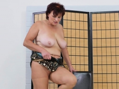 European gilf Danja doesn't wear panties today