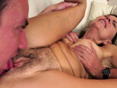 granny pussylicked and fucked deeply