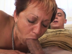 Threesome with 2 strangers and hot granny
