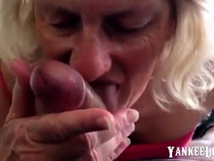 Mature tenant made to suck cock