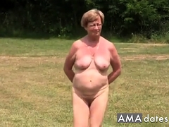 Mature nude outside